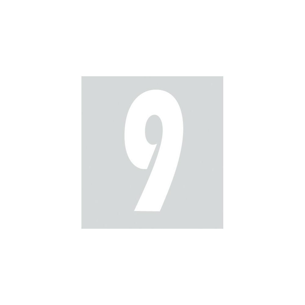 Spell-It, Numero adesivo (140x65 mm) - Bianco - 9