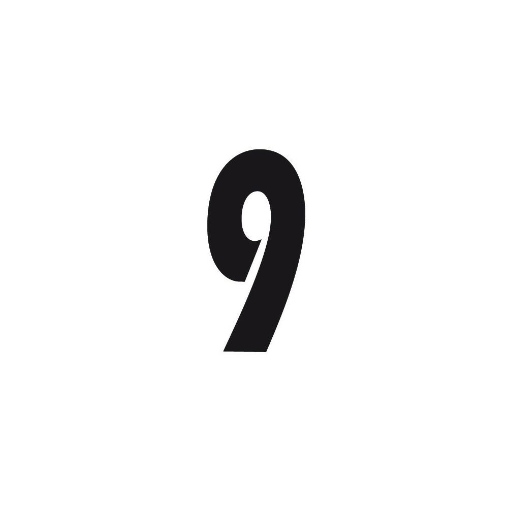 Spell-It, Numero adesivo (140x65 mm) - Nero - 9