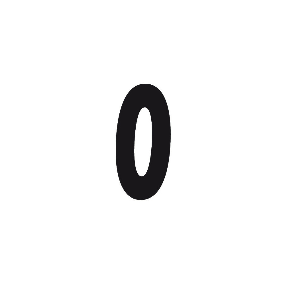 Spell-It, Numero adesivo (140x65 mm) - Nero - 0