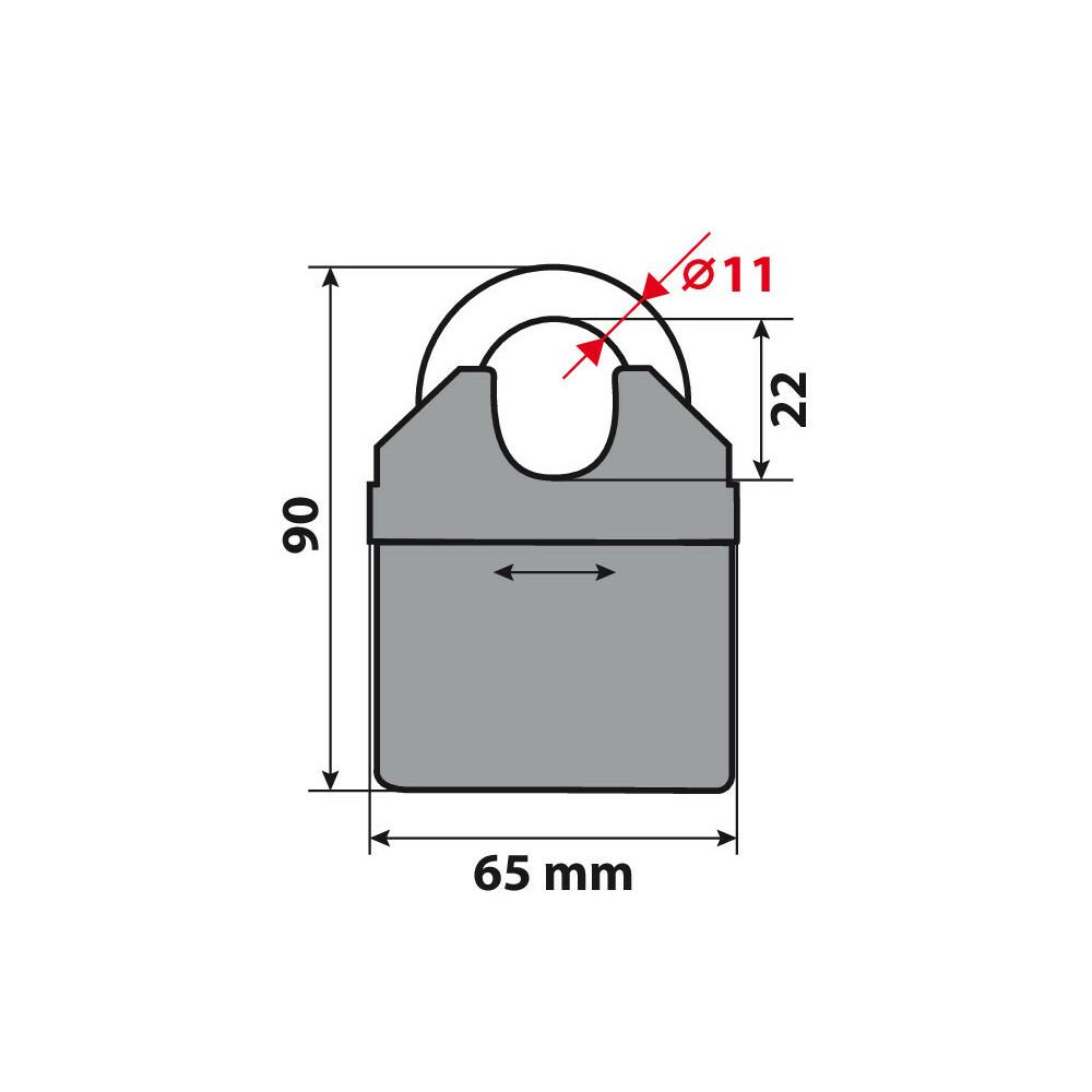 Catena antifurto-200 cm Lampa 90631 C Lock 200