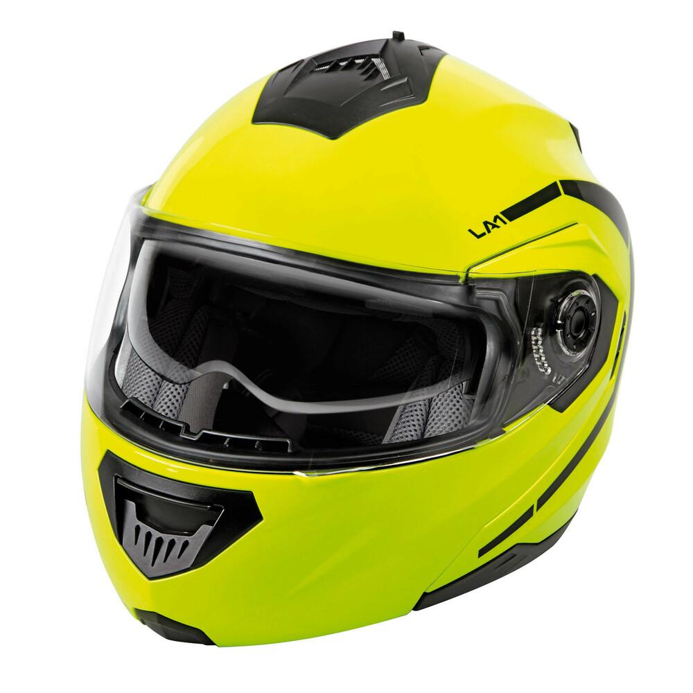 LA-1, casco modulare - Giallo fluo - L