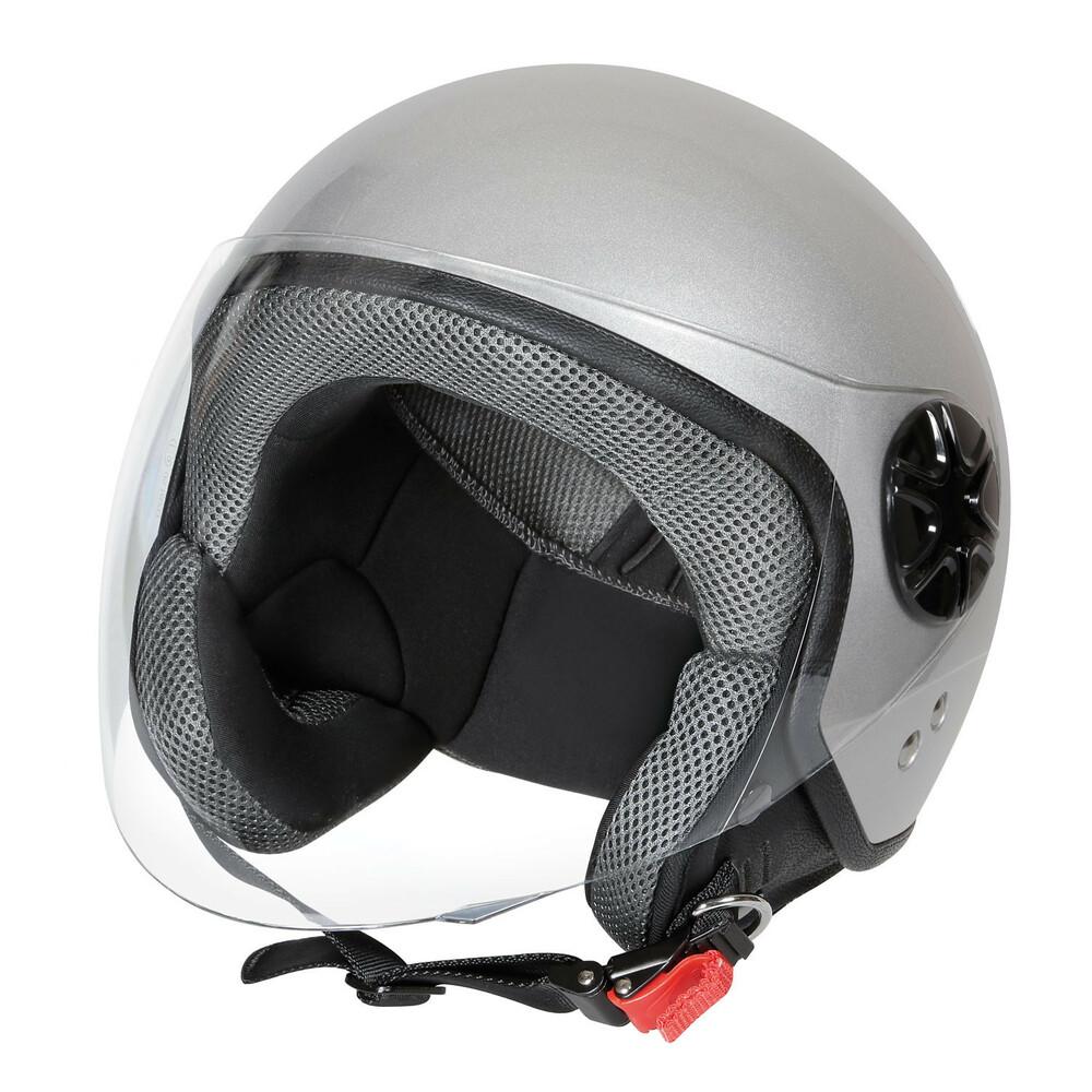 LD-3, casco demi-jet - Argento - M