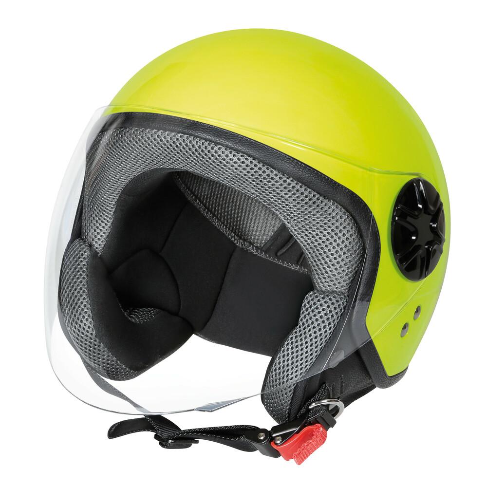 LD-3, casco demi-jet - Giallo fluo - XS