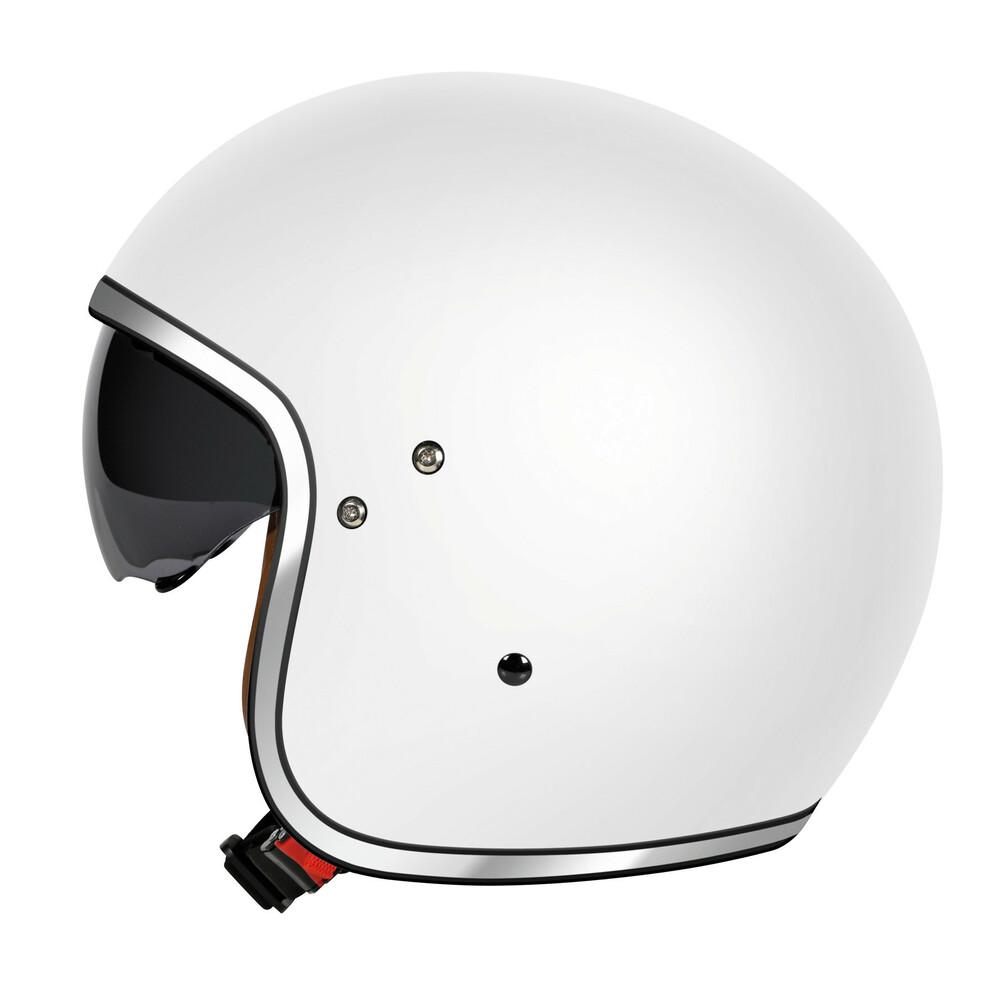 LH-2, casco demi-jet - Bianco opaco - XS