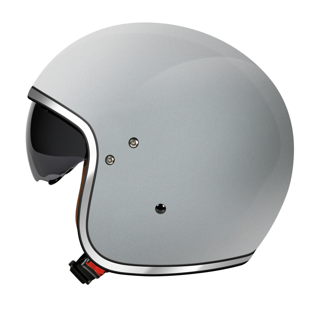 LH-2, casco demi-jet - Argento