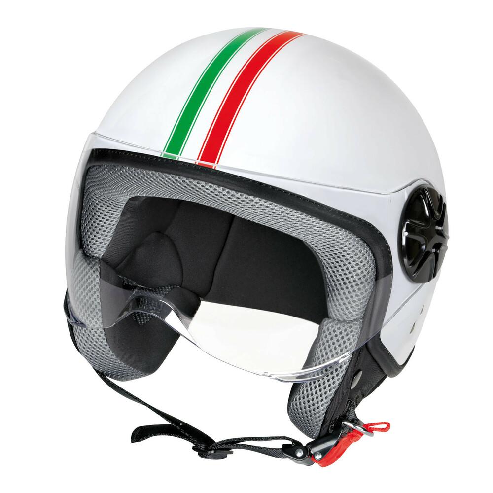 LD-2, casco demi-jet - Bandiera Italiana - M