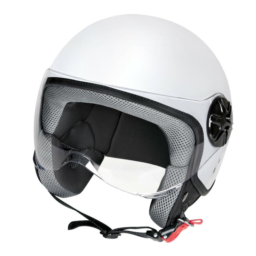 LD-2, casco demi-jet - Bianco opaco - XS