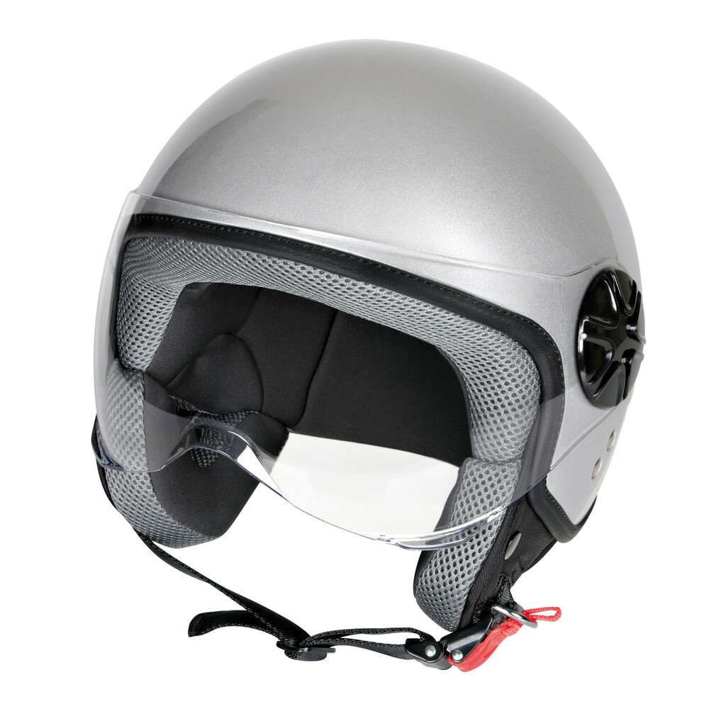 LD-2, casco demi-jet - Argento