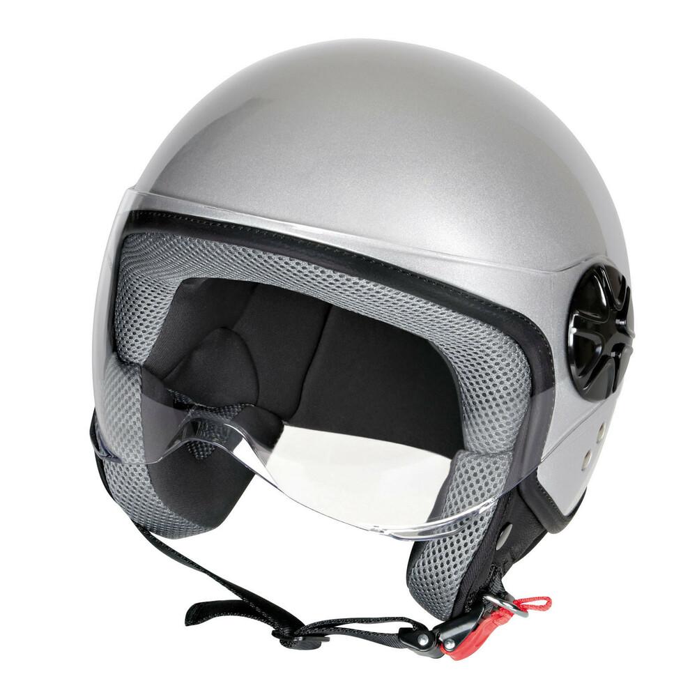 LD-2, casco demi-jet - Argento - S