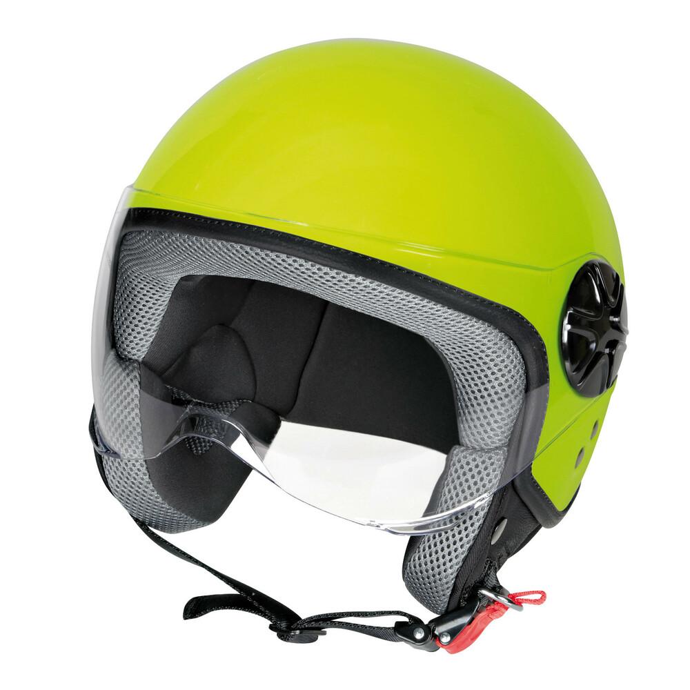 LD-2, casco demi-jet - Giallo fluo - XS