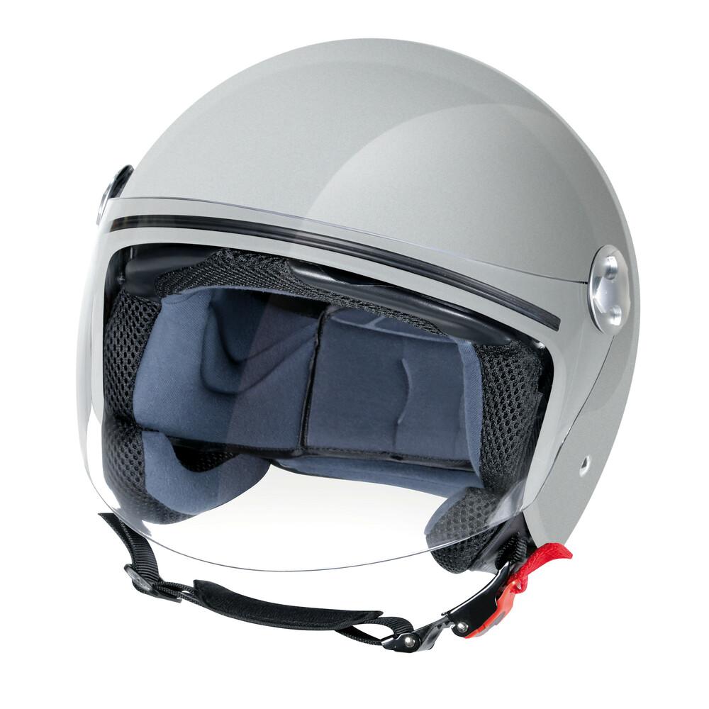 LD-1, casco demi-jet - Argento