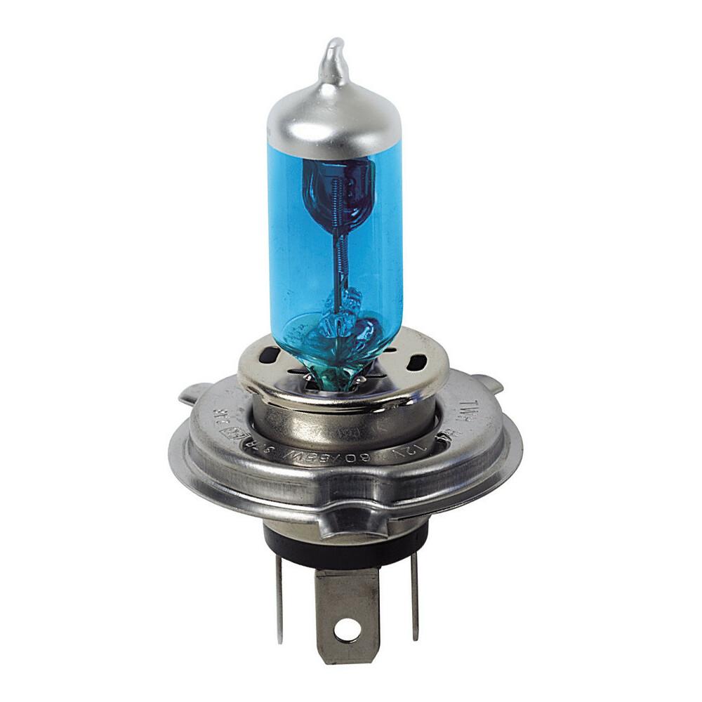 12V Lampada alogena Blu-Xe - H4 - 60/55W - P43t - 1 pz  - Scatola Plast.