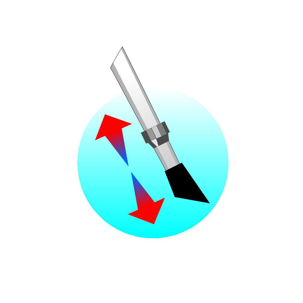 Cavalletto centrale regolabile 22-33 cm