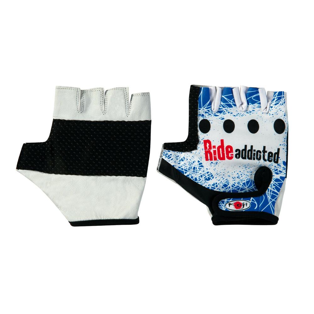 Biker-Pro, guanti in pelle e lycra - M