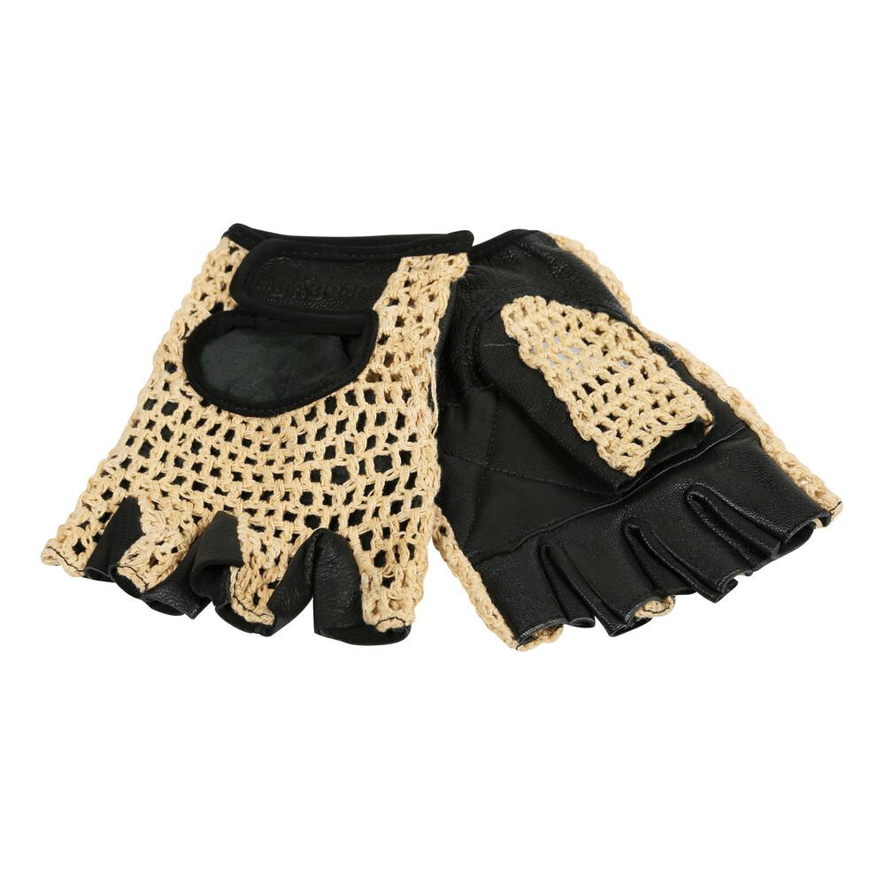 Sport, guanti in pelle e cotone - L - Nero