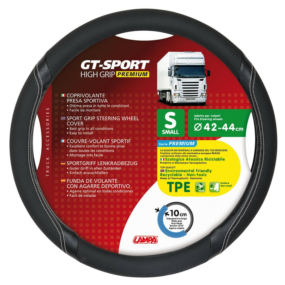 GT-Sport, coprivolante in TPE - S - Ø 42/44 cm - Nero/Argento