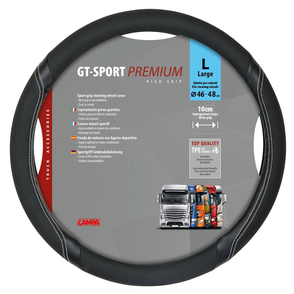GT-Sport, coprivolante in TPE - L - Ø 46/48 cm - Nero/Argento