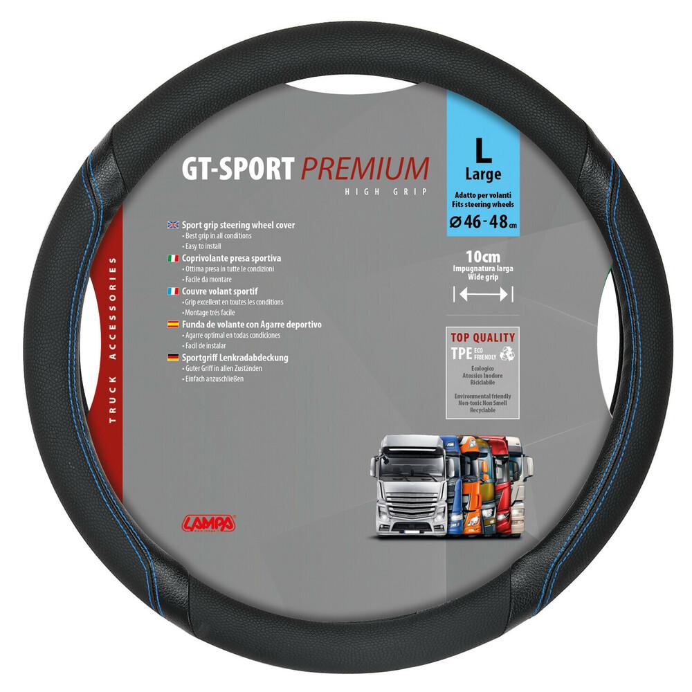 GT-Sport, coprivolante in TPE - L - Ø 46/48 cm - Nero/Blu