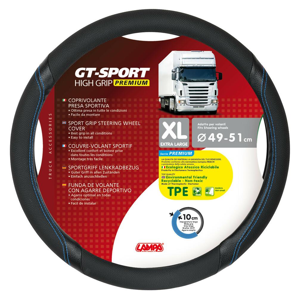 GT-Sport, coprivolante in TPE - XL - Ø 49/51 cm - Nero/Blu