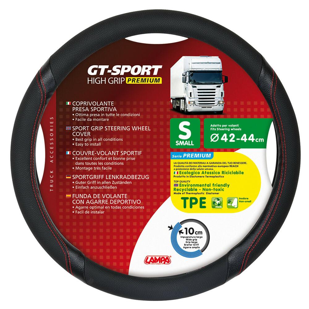GT-Sport, coprivolante in TPE - S - Ø 42/44 cm - Nero/Rosso