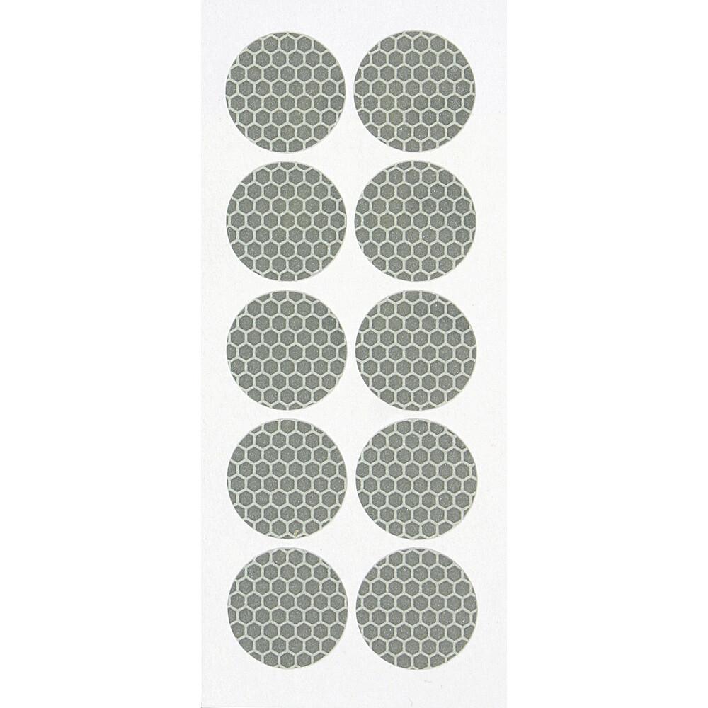 Set 10 adesivi catarifrangenti Ø 27 mm - Bianco