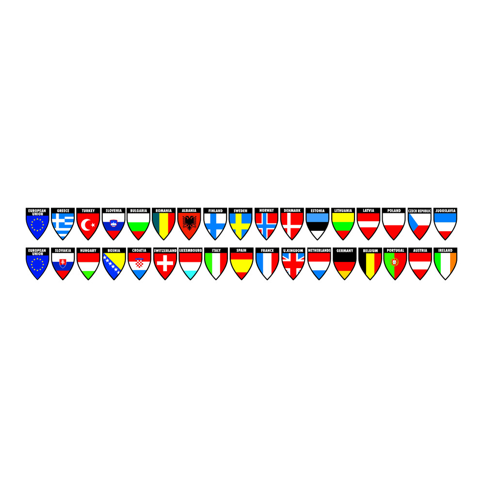 Decor-Flags 2 in1 - Set 4 - 17x2 bandiere