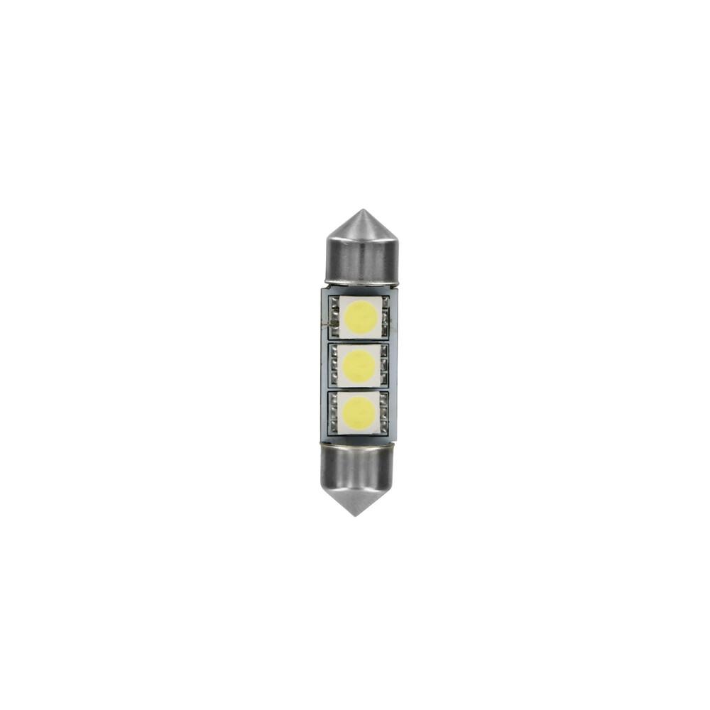 24/28V Hyper-Led 9 - 3 SMD x 3 chips - (C5W) - 10x36 mm - SV8,5-8 - 20 pz  - Busta - Bianco - Doppia polarità