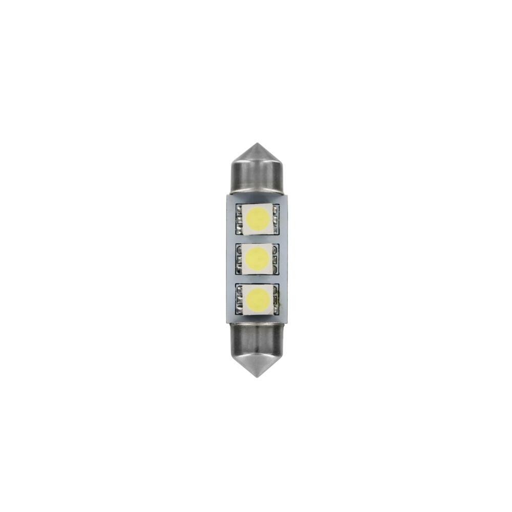 24/28V Hyper-Led 9 - 3 SMD x 3 chips - 10x39 mm - SV8,5-8 - 20 pz  - Busta - Bianco - Doppia polarità