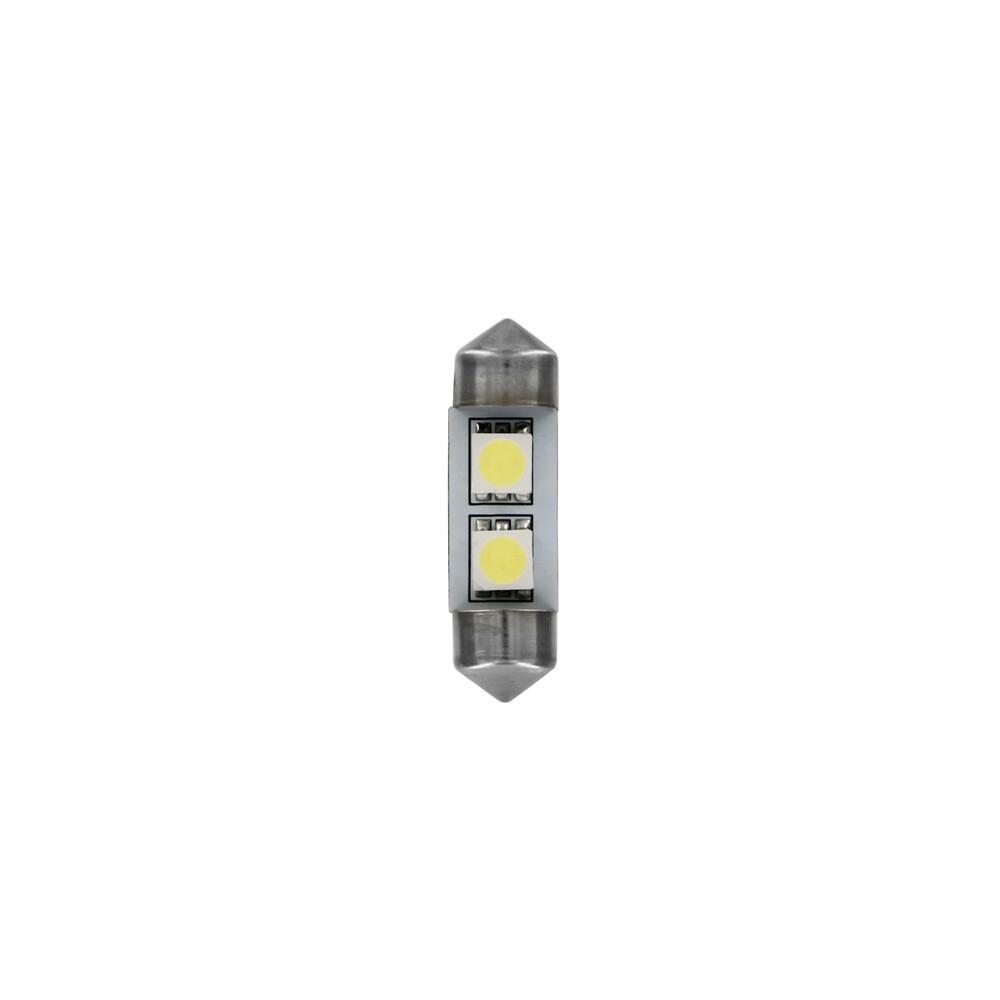 24/28V Hyper-Led 6 - 2 SMD x 3 chips - 10x31 mm - SV8,5-8 - 20 pz  - Busta - Bianco - Doppia polarità