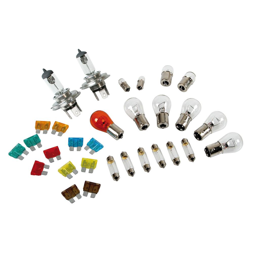 Kit lampade di ricambio 30 pz, alogena 2xH4 - 24V