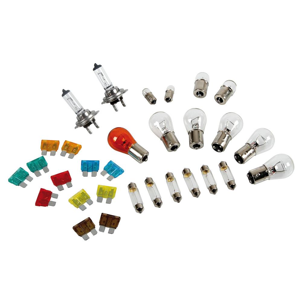 Kit lampade di ricambio 30 pz, alogena 2xH7 - 24V