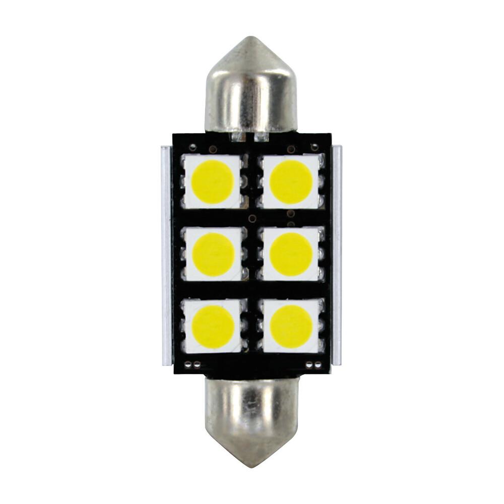 24/30V Hyper-Led 18 - 6 SMD x 3 chips - 15x39 mm - SV8,5-8 - 2 pz  - D/Blister - Bianco - Doppia polarità