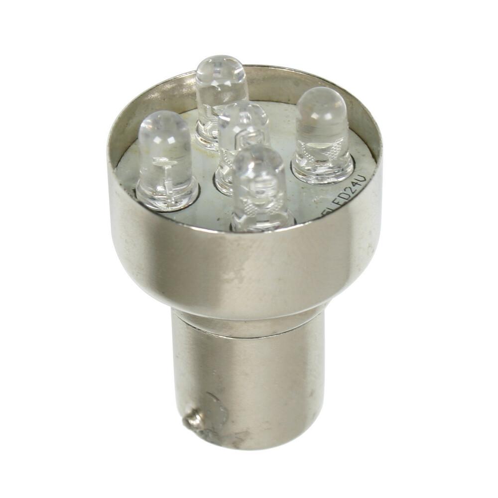 24V Lampada Multi-Led 5 Led - (R10W) - BA15s - 1 pz  - D/Blister - Rosso