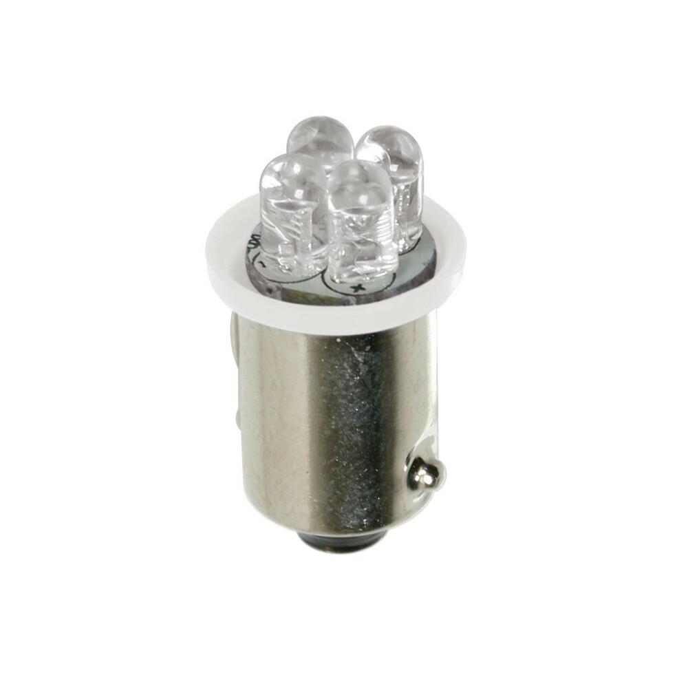 24V Micro lampada 4 Led - (T4W) - BA9s - 2 pz - D/Blister - Bianco