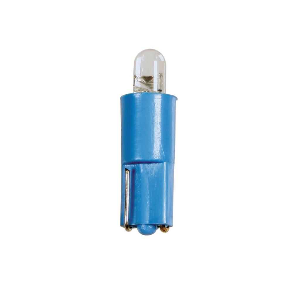 24V Kit Lampade cruscotto Led 1 Led - (T3) - W2x4,6d - 5 pz  - D/Blister - Blu