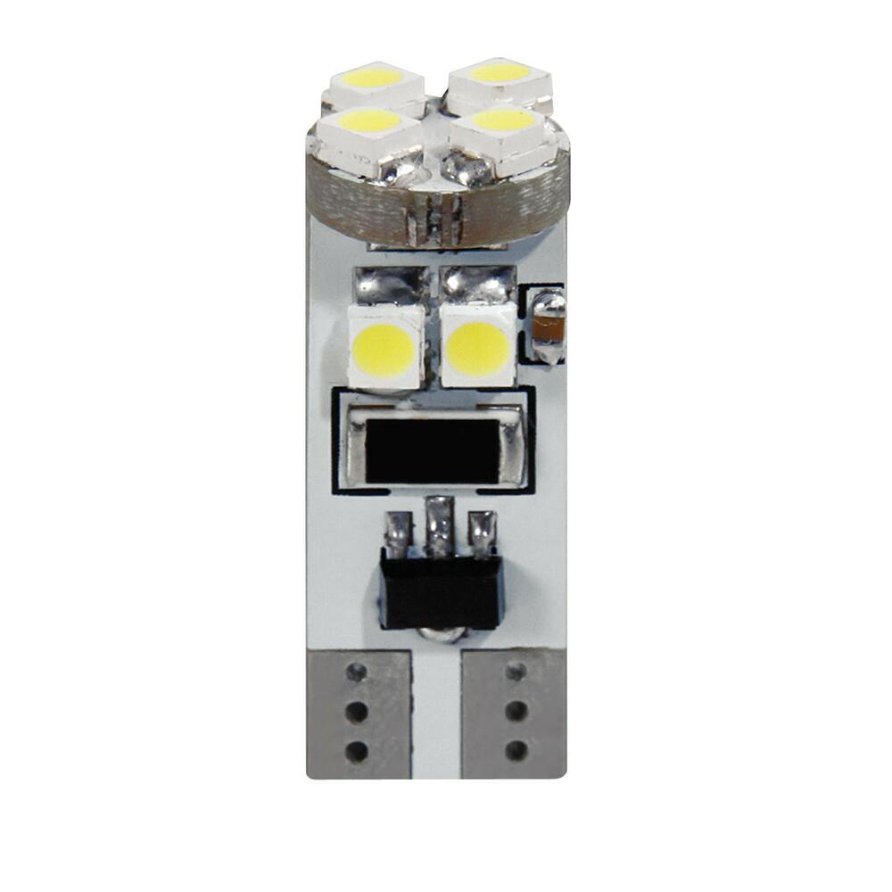 24V Hyper-Led 24 - 8 SMD x 3 chips - (T10) - Trifocus - W2,1x9,5d - 2 pz  - D/Blister - Rosso - Doppia polarità - Resistenza inc
