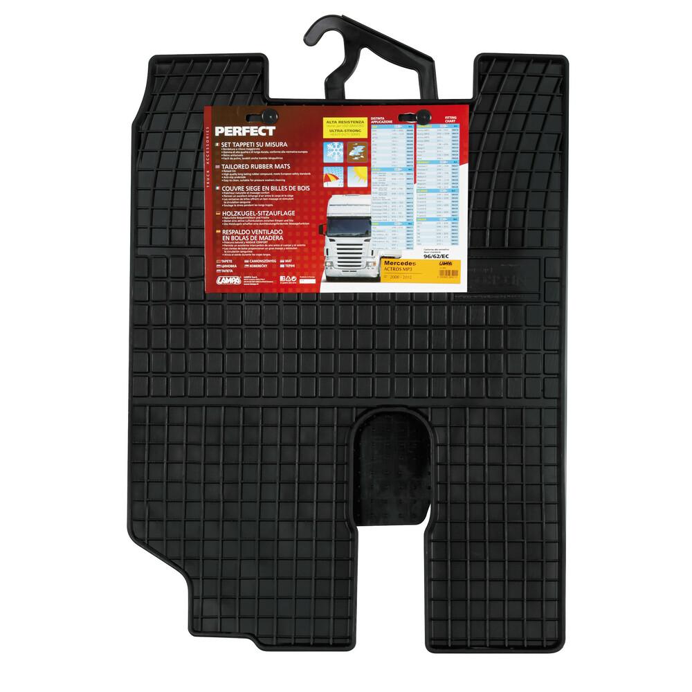 Set tappeti su misura in gomma - Mercedes Actros (MP3) (6/08>12/13)