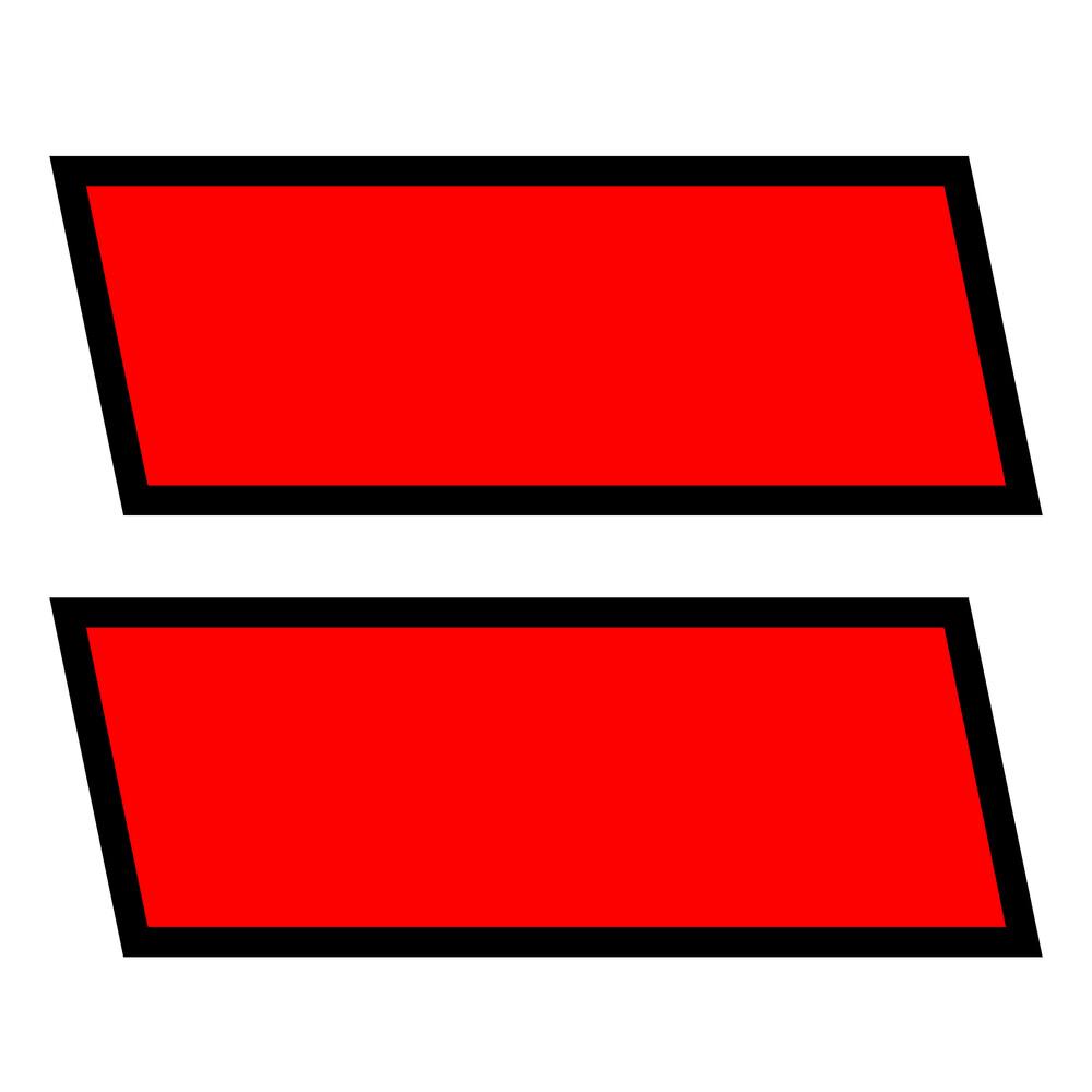Kit contrassegni adesivi, 2 pz - Nero/Rosso