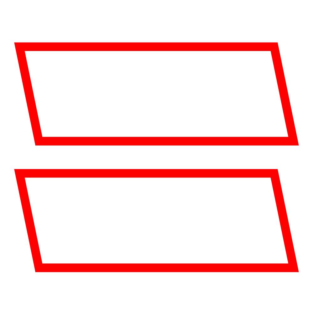 Kit contrassegni adesivi, 2 pz - Rosso/Bianco