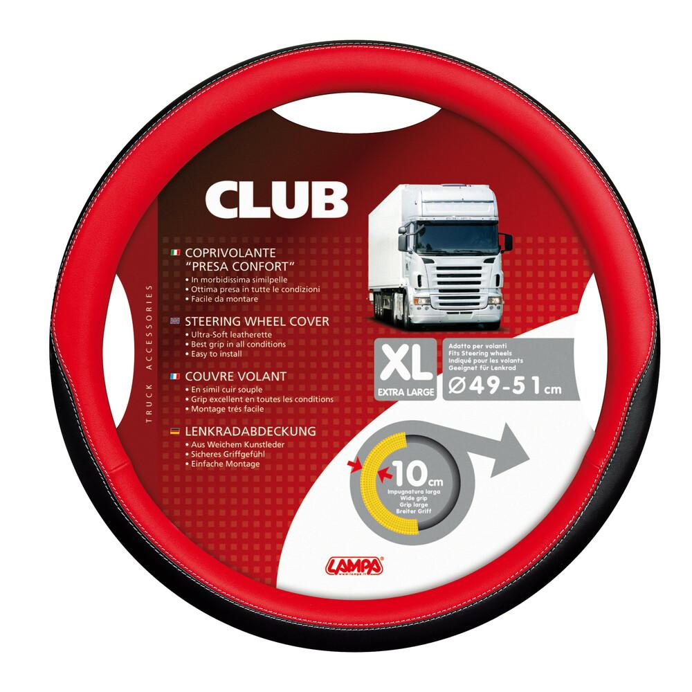 Club, coprivolante presa confort - XL - Ø 49/51 cm - Rosso