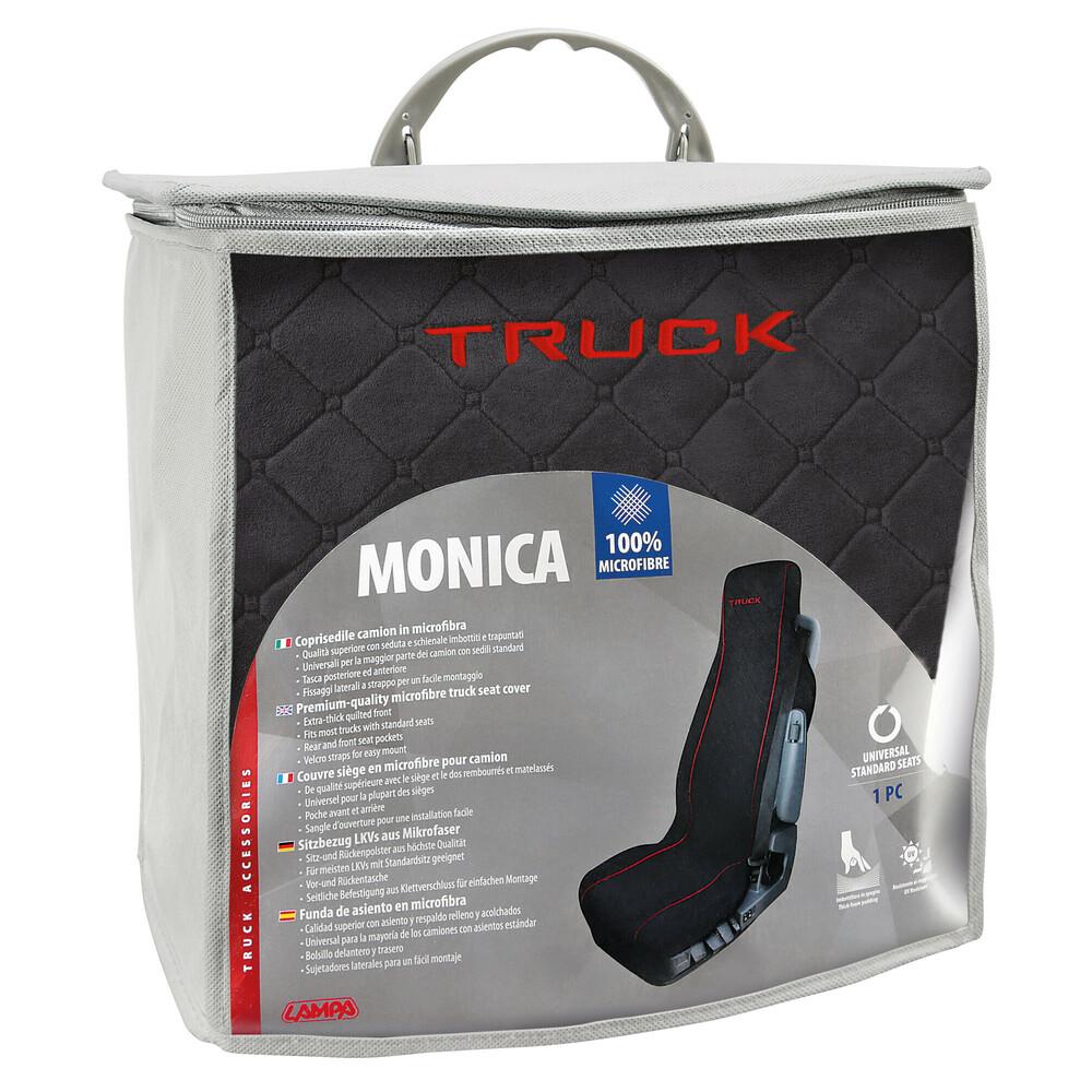 Nero Qualità superiore Monica coprisedile in microfibra per camion
