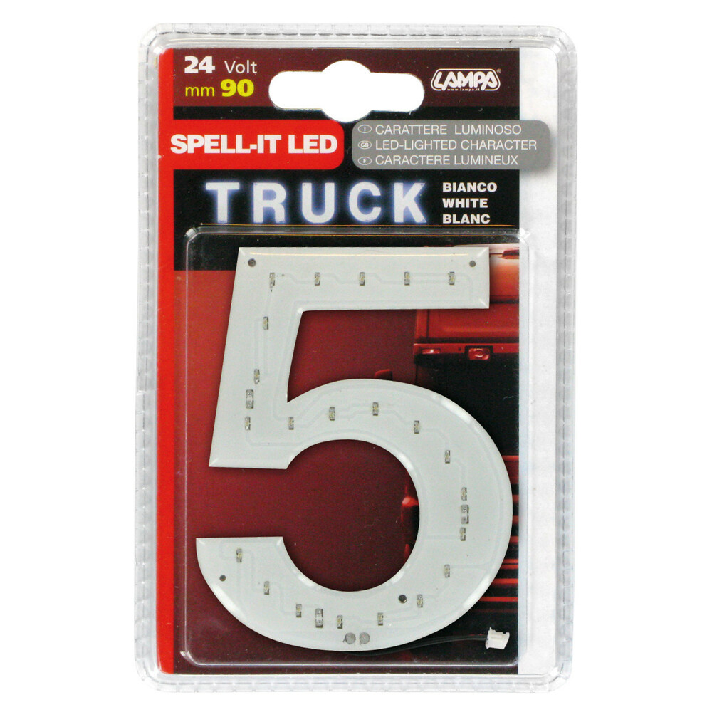 Spell-It Led, 90 mm, 24V - Bianco -
