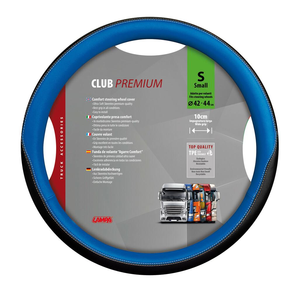 Club, coprivolante presa confort in TPE - S - Ø 42/44 cm - Blu
