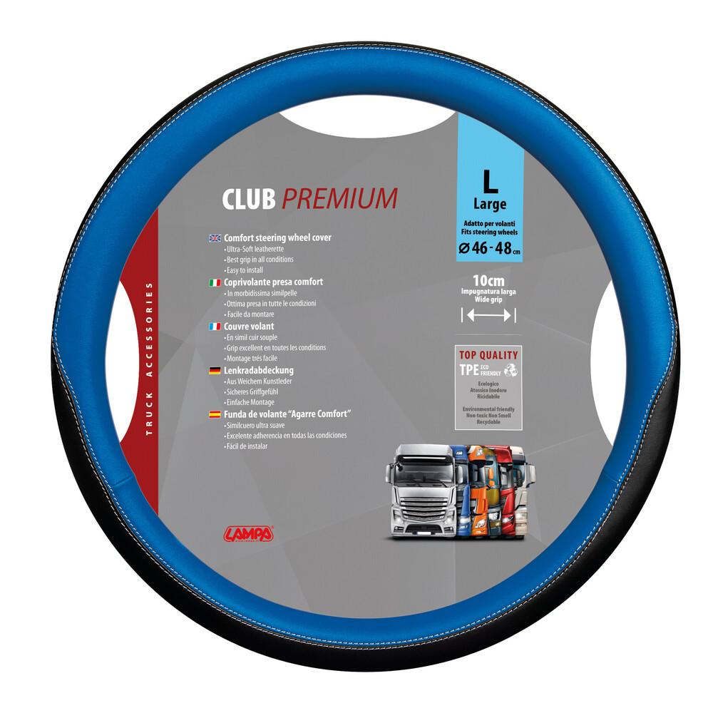 Club, coprivolante presa confort in TPE - L - Ø 46/48 cm - Blu