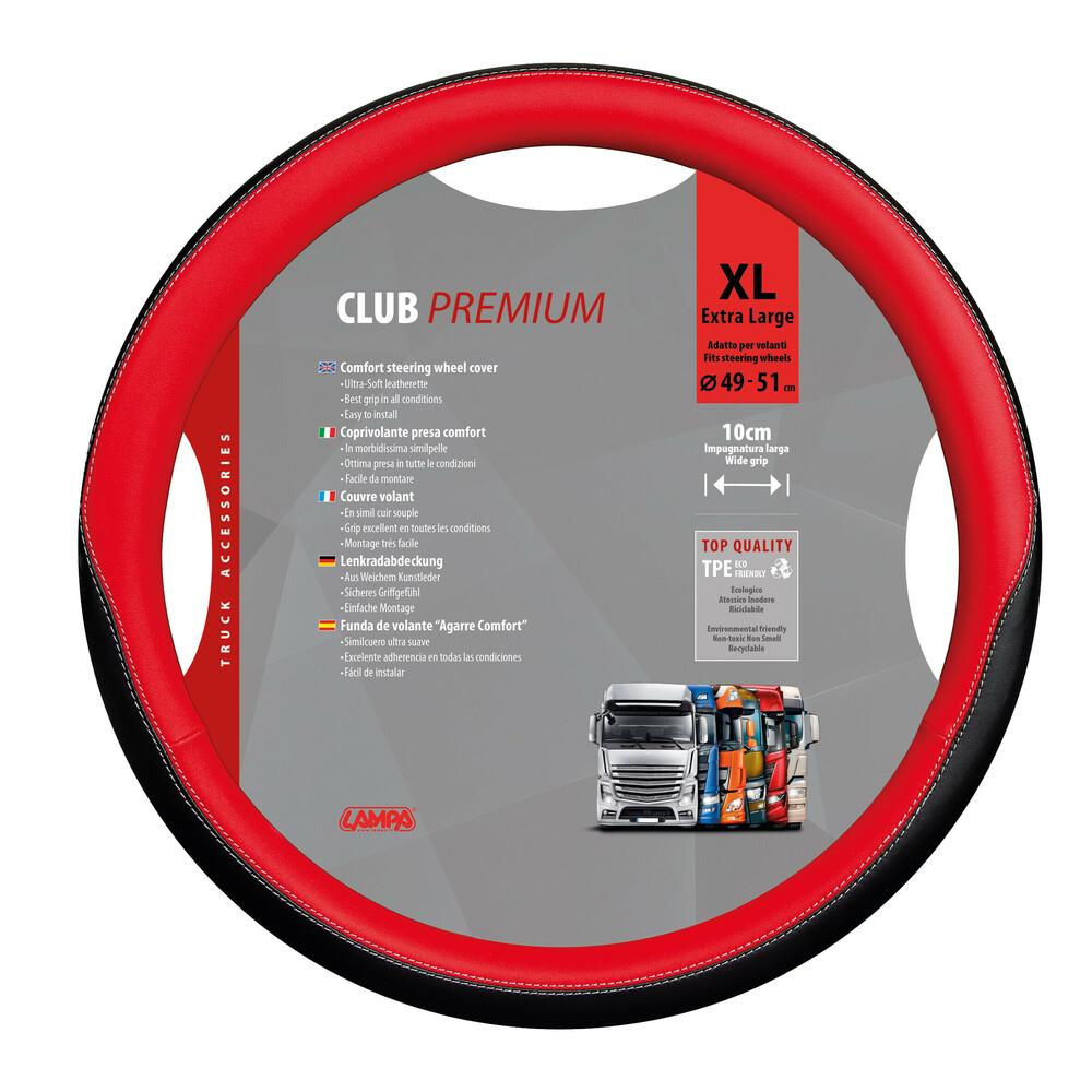 Club, coprivolante presa confort in TPE - XL - Ø 49/51 cm - Rosso