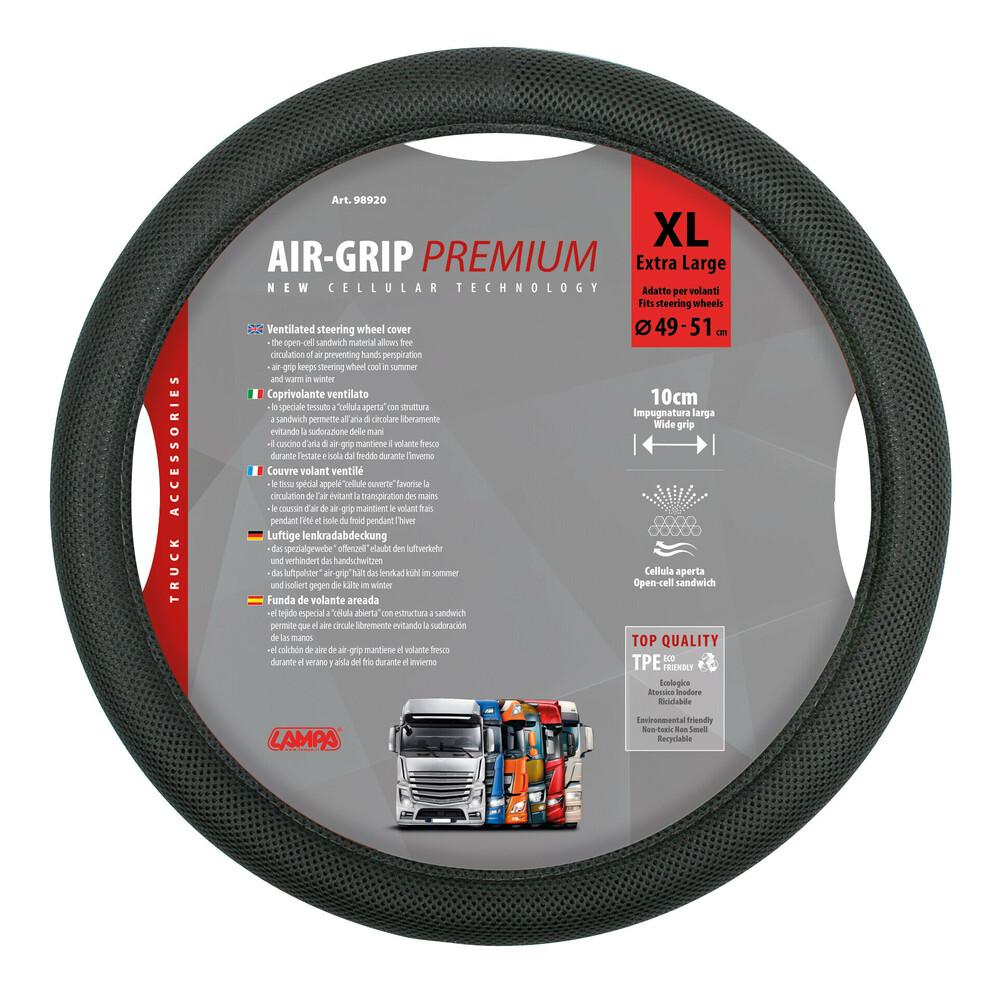 Air-Grip, coprivolante ventilato in TPE - XL - Ø 49/51 cm