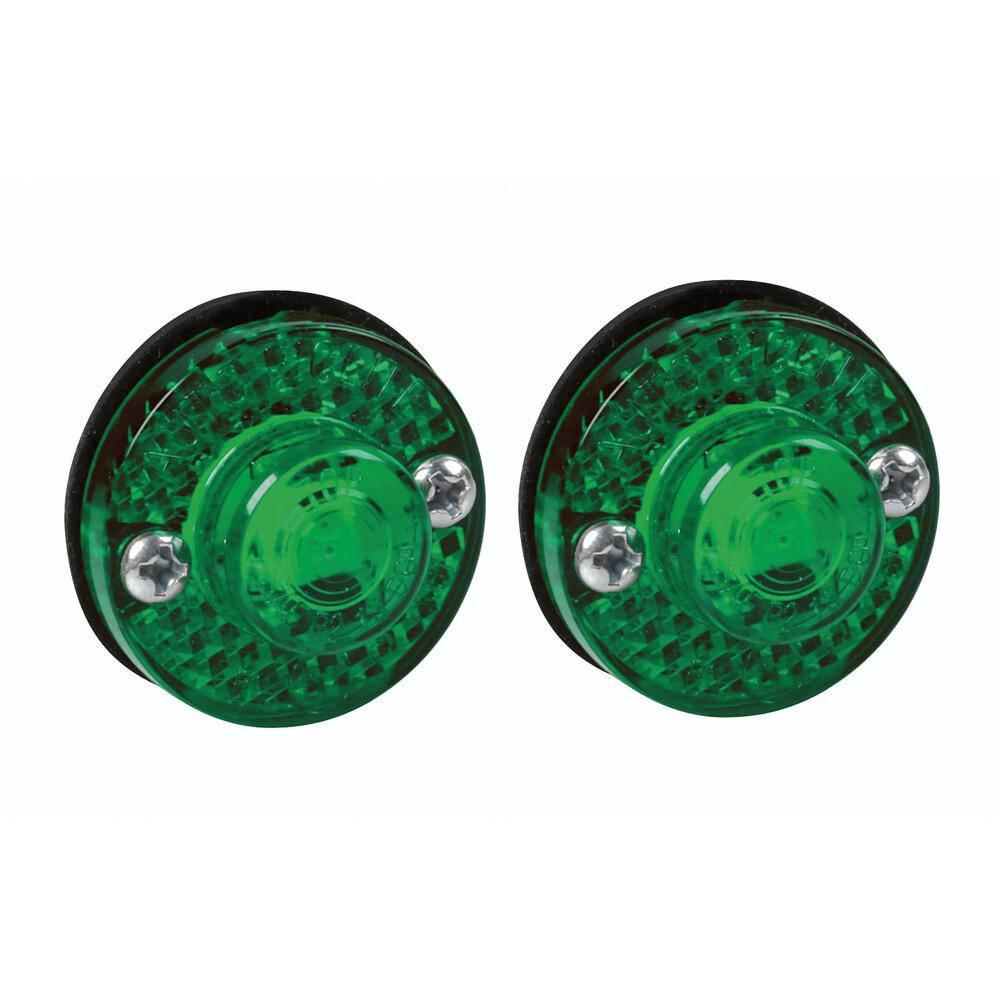 Coppia luci ingombro a 1 Led, 24V - Verde