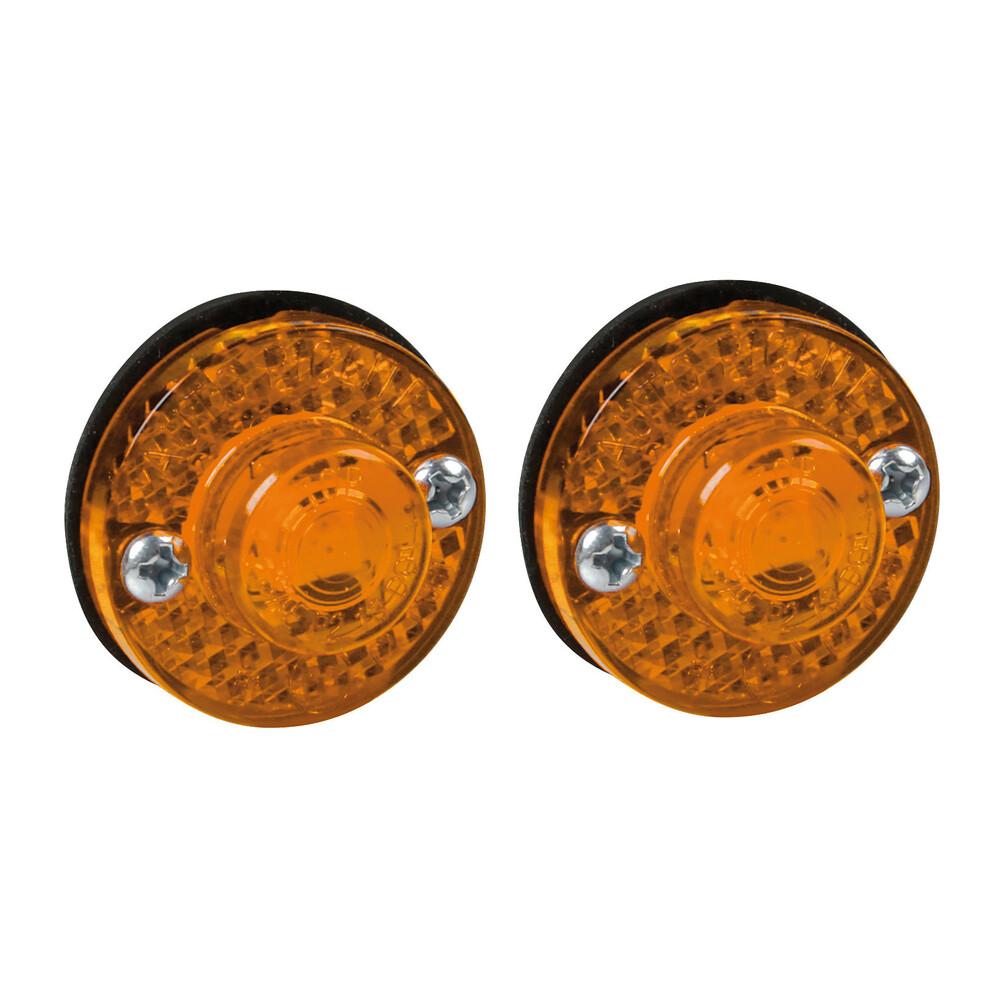 Coppia luci ingombro a 1 Led, 24V - Arancio
