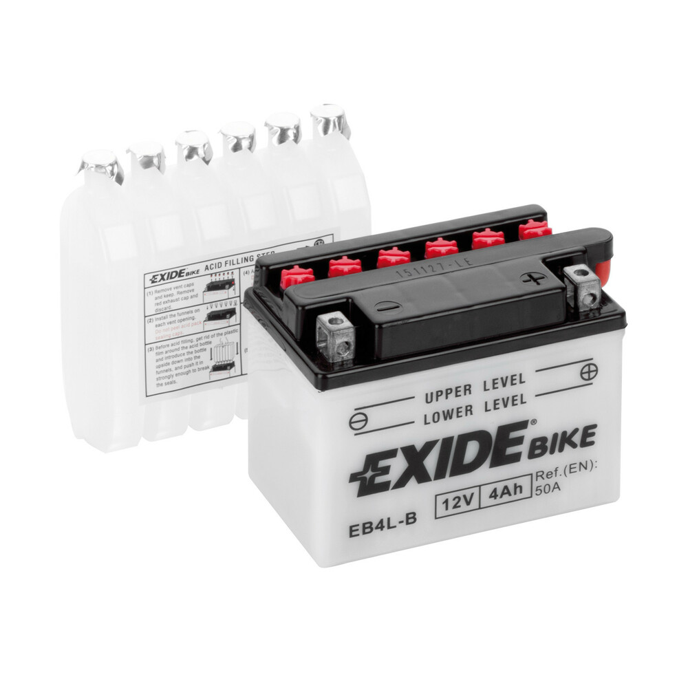 Battery 12V - Exide Bike Conventional - 4 Ah - 50 A
