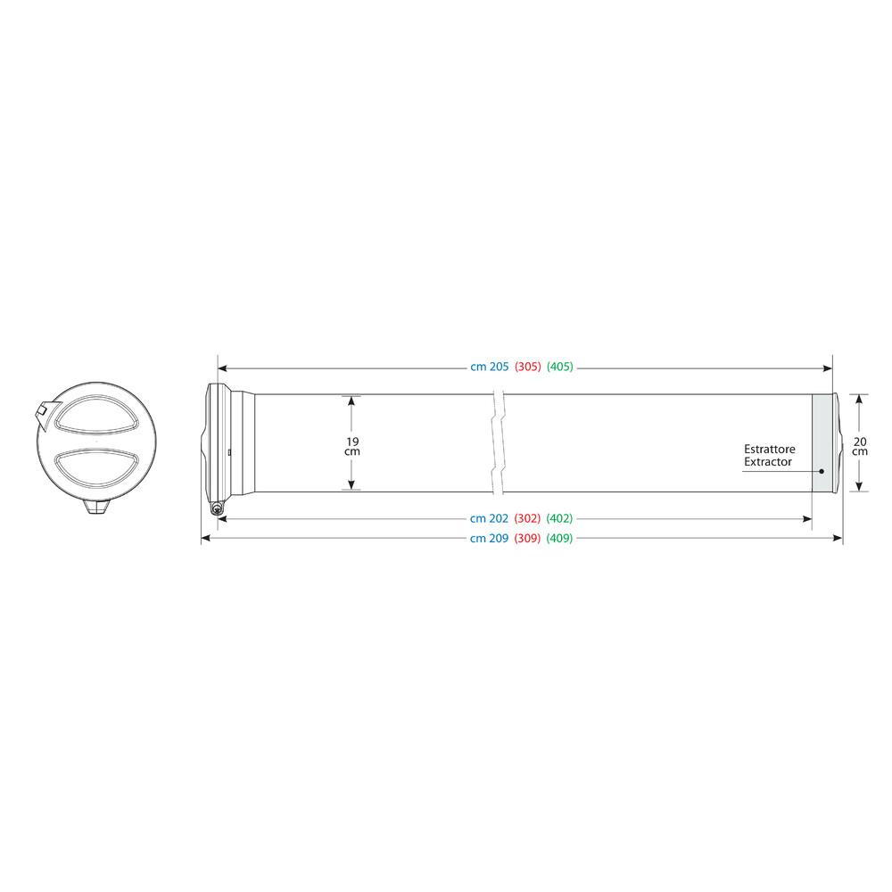 T200, Kargo-Tube, 2 staffe - 205 cm